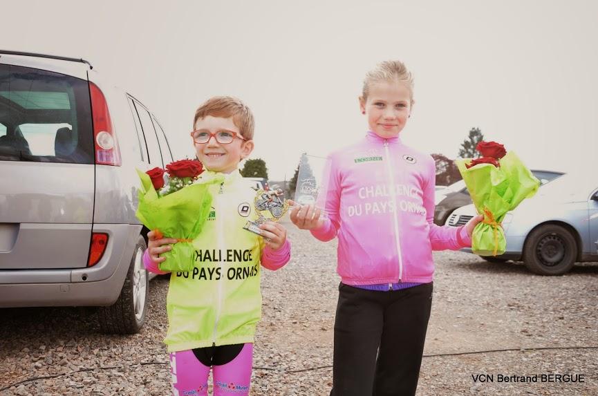 Dimanche 26 Avril, La Ferté Macé organisait la 1ere manche du challenge du Pays Ornais. Voici le classement des coureurs Nonantais PRE-LICENCIE 1- Benjamin Delamarre  Leader POUSSIN 1 5...