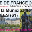 Nous avons organisé pour la première fois dans l histoire du club, une manche de la Coupe de France de cyclisme le dimanche 19 Avril à Sées. A cette occasion,...