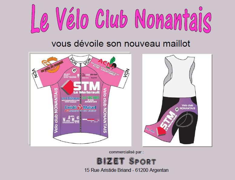 Le vélo club Nonantais vous devoile son nouveau maillot avec ses nouveaux sponsors